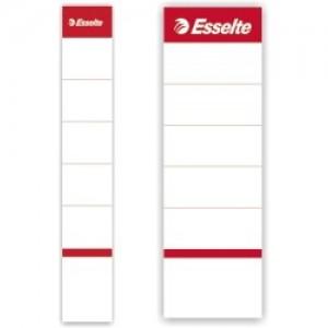 poza Etichete albe pentru biblioraft 75 mm , 10/set, ESSELTE
