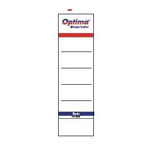 poza Etichete albe pentru biblioraft 75 mm , 10/set, OPTIMA