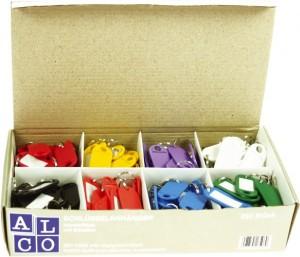 poza Etichete pentru chei, 200/cutie,  ALCO - culori asortate
