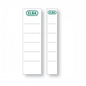 poza Etichete pt. bibliorafturi, 30 x 190mm, alb, 10 buc/set, ELBA