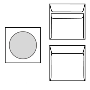 poza Plic CD 125x125 offset alb gumat 90 gr.