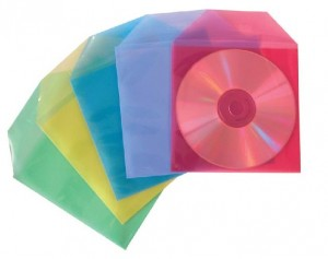 poza Plic PP pentru CD/DVD, fara perforatii, 50/set, STEY - asortate