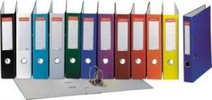 poza Biblioraft A4, plastifiat PP, margine metalica, 75 mm, ESSELTE Economy - albastru