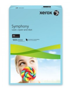 poza Hartie color, A4, 80 g/mp, albastru mediu, 500 coli/top, XEROX Symphony