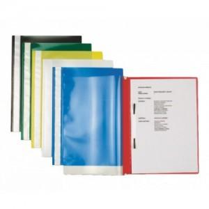 poza Dosar din plastic, cu sina, albastru inchis, 25 buc/set, ESSELTE Standard