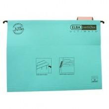 poza Dosar suspendabil cu eticheta, bagheta metalica, carton 330g/mp, ELBA Verticflex Ultimate - albastru