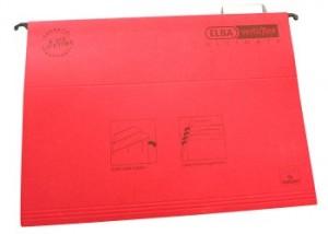 poza Dosar suspendabil cu eticheta, bagheta metalica, carton 330g/mp, ELBA Verticflex Ultimate - rosu