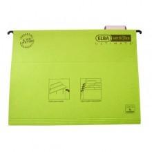 poza Dosar suspendabil cu eticheta, bagheta metalica, carton 330g/mp, ELBA Verticflex Ultimate - verde