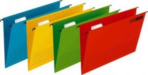 poza Dosar suspendabil cu eticheta, bagheta metalica, 25buc/set, Verticflex - albastru