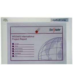 poza Mapa plastic cu buton A4 transparenta SNOPAKE