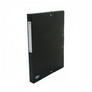 poza Mapa carton 600g/mp, cu elastic, 60mm latime, ELBA Eurofolio - negru