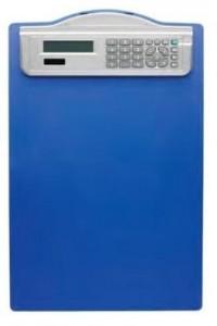 poza Clipboard simplu A4, cu calculator, ALCO - albastru