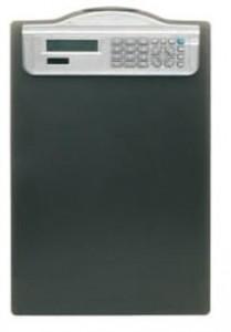 poza Clipboard simplu A4, cu calculator, ALCO - negru