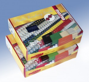 poza Baghete plastic 6mm indosariere 1-60 coli (negru, albastru, rosu, verde) 50/cutie