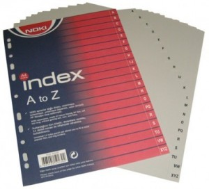 poza Index A-Z, Noki (culori: gri) NOKI