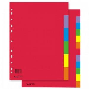 poza Index carton A4  6 file color, 230g BENE
