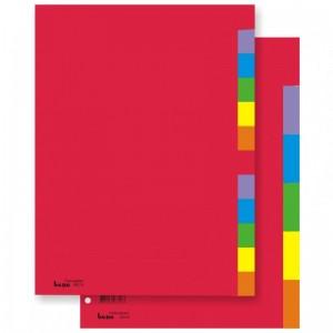 poza Index carton A4 12 file color, 230g BENE