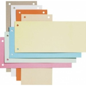 poza Separatoare biblioraft 105 x 240 mm, 190g/mp, 100/set, ELBA - albastru