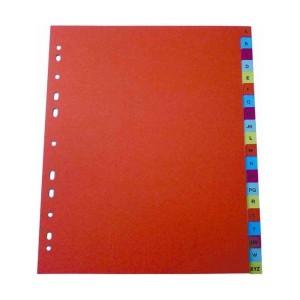 poza Index plastic color, alfabetic A-Z, LANDS