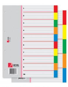 poza Index plastic A4 10 culori ACCO