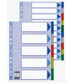poza Separatoare plastic 12 culori ESSELTE-LEITZ