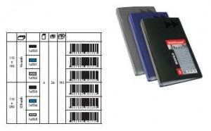 poza Clasor carti vizita, capacitate 128 buc, MEGAPOLIS negru ERICH KRAUSE