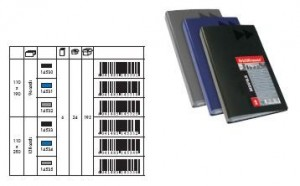 poza Clasor carti vizita, capacitate 96 buc, MEGAPOLIS negru ERICH KRAUSE