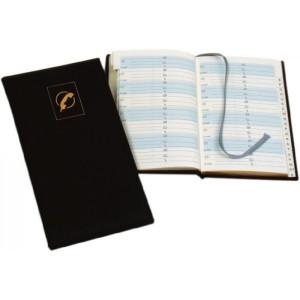poza Agenda telefonica   9,5 x 17 cm, 64 file, margini aurite, AURORA