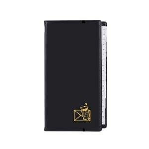 poza Agenda telefonica cu inele, 217 x 128 mm, cu index, KANGARO - negru