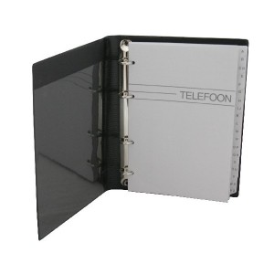 poza Agenda telefonica cu inele, 220 x 165 mm, cu index, KANGARO - culori asortate