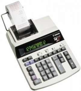 poza Calculator de birou cu banda, 12 digiti, CANON MP120-MG