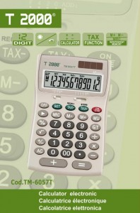 poza Calculator de birou, 12 digiti, T2000 TM6057T