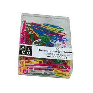 poza Agrafe colorate 26 mm, 100/cutie, ALCO - asortate