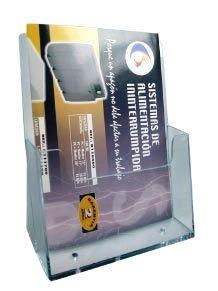 poza Display plastic pentru pliante, A4, STEY - transparent
