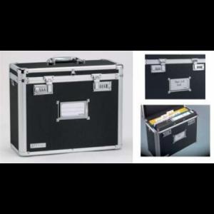 poza Suport pentru dosare suspendare, cu incuietoare, LEITZ Vaultz - negru/argintiu