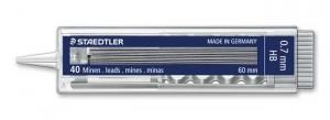 poza Mine creion mecanic 07 mm /2B,HB/40 mine/etui STAEDTLER