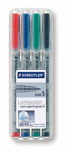 poza Set lumocolor nepermanent - S 0.4 mm /4 culori/set STAEDTLER