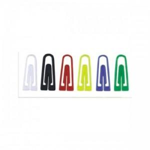 poza Agrafe din plastic, 100/cutie, ALCO - asortate