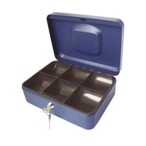 poza Caseta (cutie) metalica pentru bani, 300 x 240 x 90 mm - gri TURIKAN