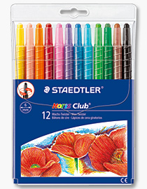 poza Creion color ceara 12 culori/set; virf retractabil STAEDTLER