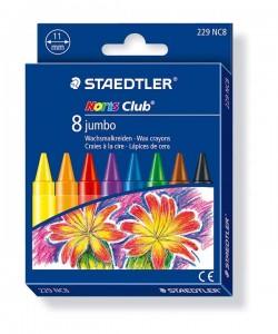 poza Creion color ceara Noris Club Jumbo 8 culori/set STAEDTLER