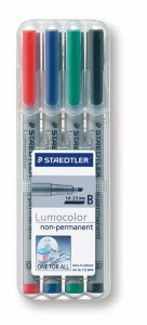 poza Set lumocolor nepermanent - B 1-2.5 mm /4 culori/set STAEDTLER