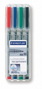 poza Set lumocolor nepermanent - M 0.8-1mm /4 culori/set STAEDTLER