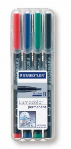 poza Set lumocolor permanent - B 1-2.5mm/4 culori/set STAEDTLER