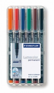 poza Set lumocolor permanent - B 1-2.5mm/6 culori/set STAEDTLER