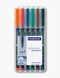 poza Set lumocolor permanent - F 0.6 mm /6 culori/set STAEDTLER