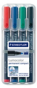 poza Set permanent marker compact / 4 culori/set STAEDTLER