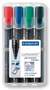 poza Perm. marker 2-5 mm vf tesit /4 culori/set STAEDTLER