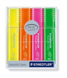 poza PROMO textmarker 364, 4 culori/set, corp pastel STAEDTLER