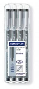 poza Set fineliner Pigment 01/03/05/07mm/4 dimensiuni/set STAEDTLER